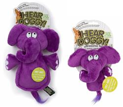 Hear Doggy -  Flats Purple Elephant with Chew Guard