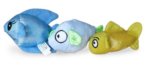 Ocean Buddies Fish 3 Pack Dog/Cat Toys