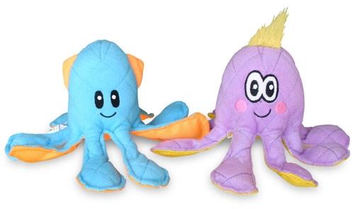 Ocean Buddies Blue Squid Dog Toy