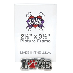 Dog Picture Frame - Love