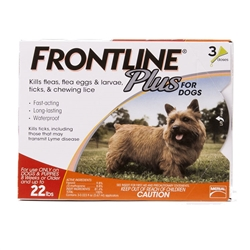 3 Dose Frontline® Plus 11-22 lbs. - Gold