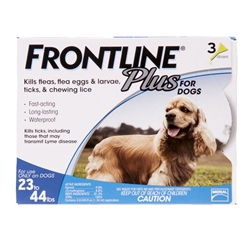 3 Dose Frontline® Plus 23-44 lbs. - Blue