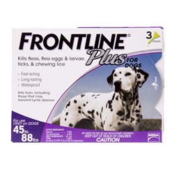 3 Dose Frontline® Plus 45-88 lbs. - Purple