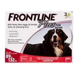 3 Dose Frontline® Plus 89-132 lbs. - Red