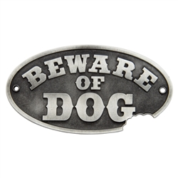 Wall Plaque - Beware of Dog