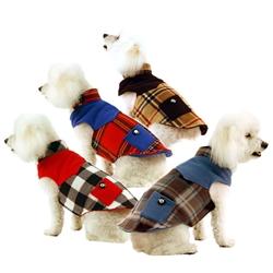 Double Fleece Dog Coat With Pockets