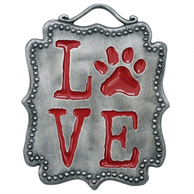 Paw Wall Plaque - Love