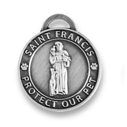 Large Antique Silver/ St. Francis Medallion