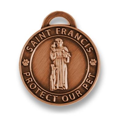 Large Antique Copper/ St. Francis Medallion