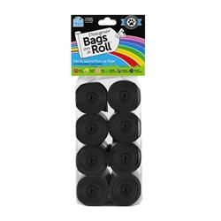 Designer Refill Bags - Black/Unscented - 8 Rolls