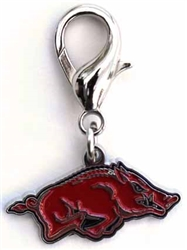 University of Arkansas Razorbacks Dog Collar Charm