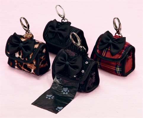 Black Sequin Pick-It-Up Purse with Bow Tie