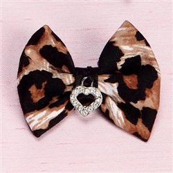 Leopard Hair Bow