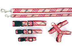Collar, Harnesses & Leads Plaid | Signature Red Plaid