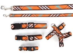 Collars, Harnesses & Leads Plaid | Signature Orange
