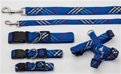 Collar, Harnesses & Leads Plaid | Blue Plaid
