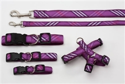 Collars, Harnesses & Leads Plaid | Signature Lavender Plaid