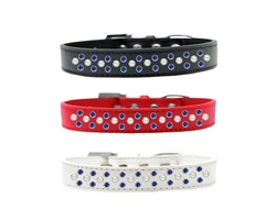 Sprinkles Pearl and Blue Crystals Dog Collar