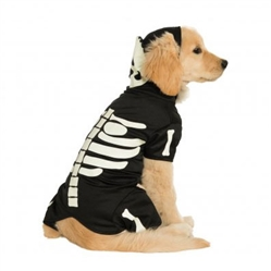 Rubie's Black Glow-in-the-Dark Skeleton Hoodie