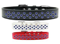 Sprinkles Blue Crystals Dog Collar