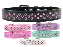 Sprinkles Bright Pink Crystals Dog Collar
