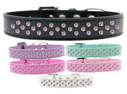 Sprinkles Light Pink Crystals Dog Collar