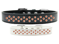 Sprinkles Orange Crystals Dog Collar