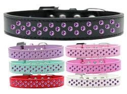 Sprinkles Purple Crystals Dog Collar