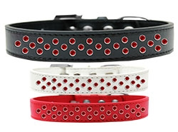 Sprinkles Red Crystals Dog Collar