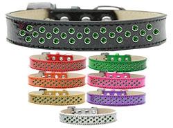 Sprinkles Ice Cream Emerald Green Crystals Dog Collar