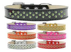 Sprinkles Ice Cream Lime Green Crystals Dog Collar