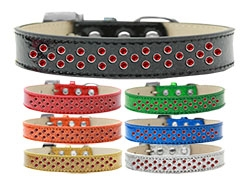 Sprinkles Ice Cream Red Crystals Dog Collar