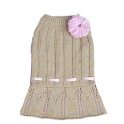 Cassidy Sweater Dress - Gold