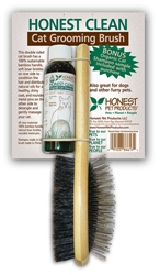 Honest Clean Cat Grooming Brush with Shampoo