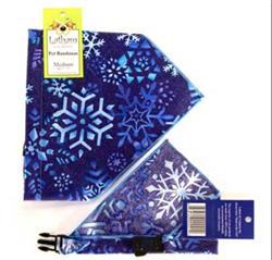 Blue Snowflake Bandana