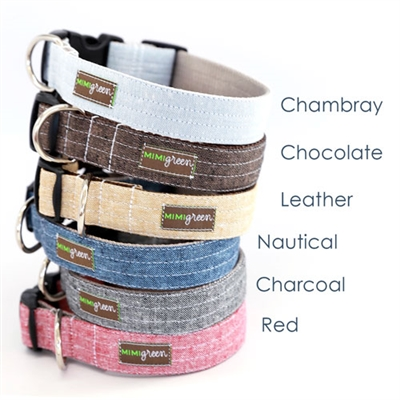 Bow Tie Linen Dog Collar