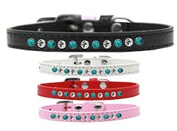 Premium Southwest Turquoise Pearl and Crystal Collection Dog Collar