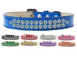 Two Row AB Crystal Ice Cream Dog Collar