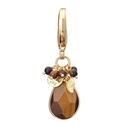 Faceted Stone Charms - Tiger Eye