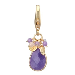 Faceted Stone Charms - Purple Quartz