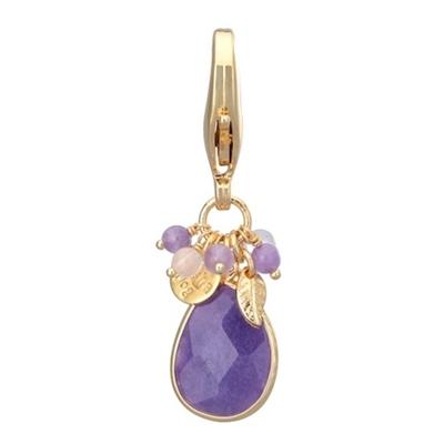 Faceted Stone Charms - Purple Quartz