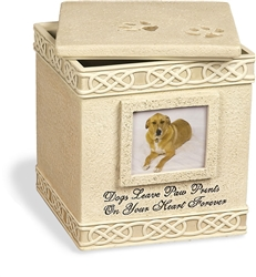 Dog Paw Prints Memory Box
