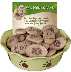Paw Print Stones 48 Piece Assortment