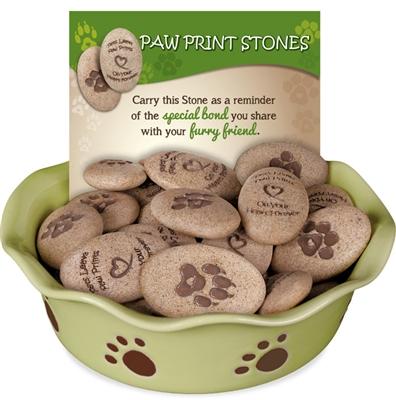 Paw Print Stones 48 Piece Assortment