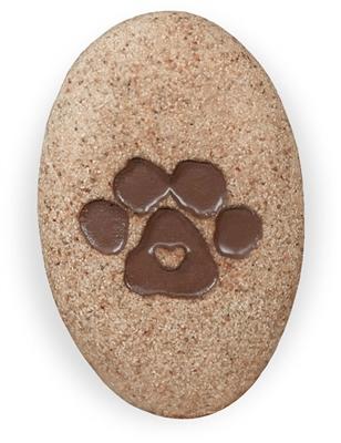 Cat Paw Print Stone