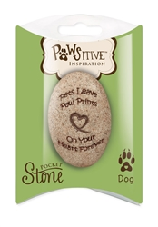 Dog Paw Print Pillow Packed Stone