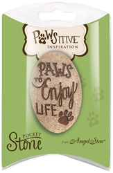 Paws to Enjoy Pawsitive Inspiration Pillow Packed Stone