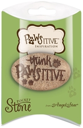 Think Pawsitive Pawistive Inspiration Pillow Packed Stone