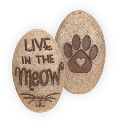 Live in the Meow Pawsitive Stone