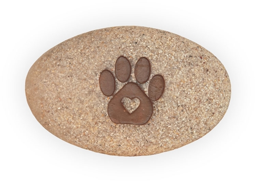 Love More Bark Less Pawsitive Stone